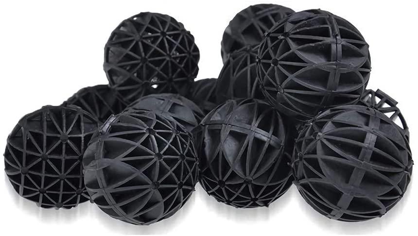 J-star Aquarium Bio Balls Filter Media, Aquarium Fish Tank Filter Biosphere - Biological Filtration Rings with Media Bags