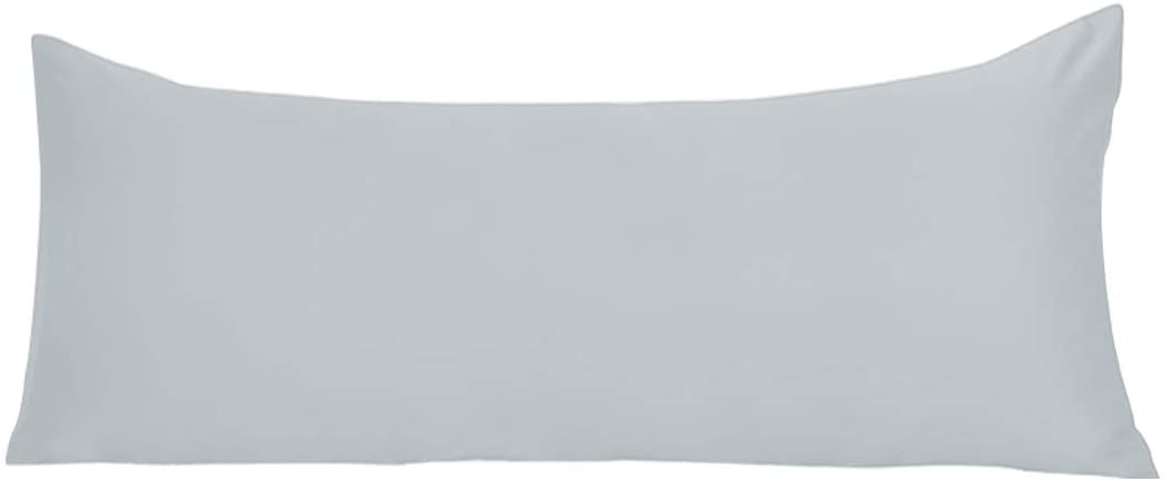 uxcell Body Pillow Cover 20x54 Inch Silver Silky Satin Body Pillowcases for Hair and Skin Luxury Cooling Anti Wrinkle Wash-Resistant