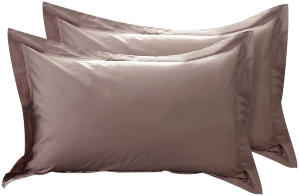 uxcell Pillow Shams Oxford Pillow Cases Egyptian Cotton 300 Thread Count Solid/Plain Pattern Set of 2 King(20