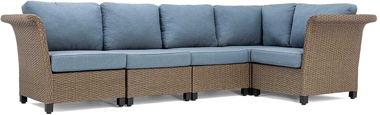La-Z-Boy Outdoor Nolin 5pc Sectional Seating Set, Blue