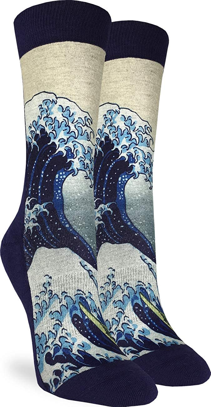Good Luck Sock Women's The Great Wave off Kanagawa Socks - Adult Shoe Size 5-9