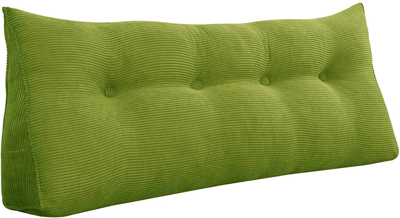 Roner Large Headboard Pillow Bedrest Pillow Bed Wedge Positioning Support Daybed Cushion Bolster Lumber Pillow Dorm Pillow Green Full