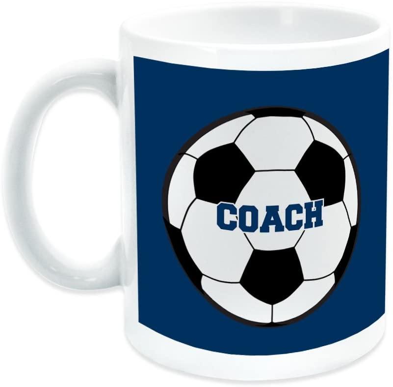 Soccer Ceramic Mug Coach | Soccer Ceramic Mug by ChalkTalkSPORTS | Blue