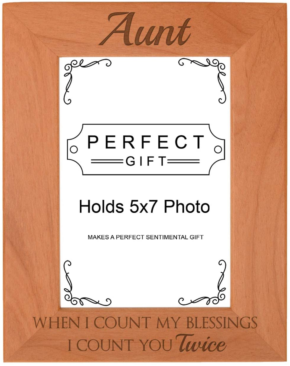 Aunt Birthday Gifts When I Count Blessings I Count You Twice Aunt Gift Engraved 5x7 Portrait Frame