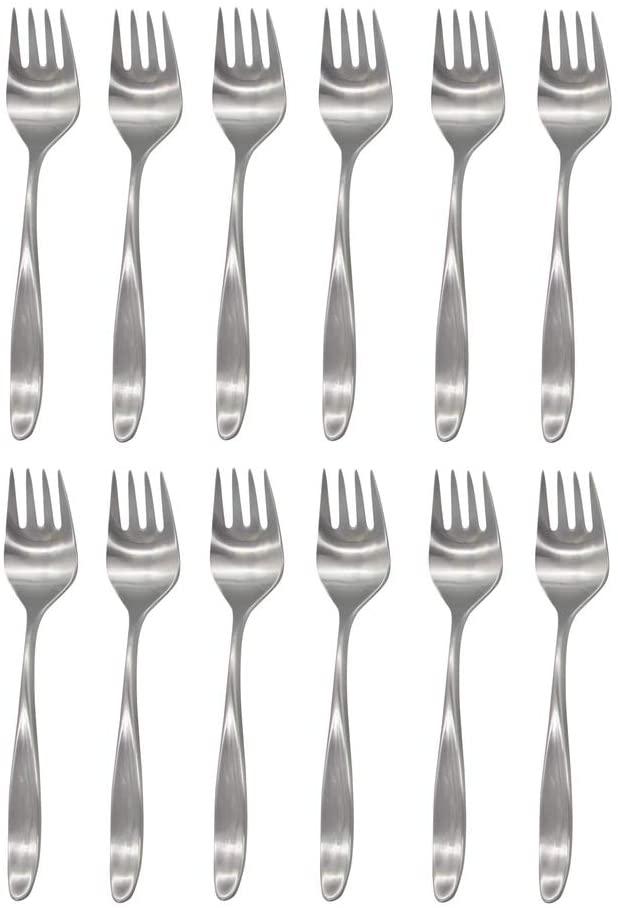 Lauffer Design 2 / Design II 18/8 Stainless Steel Salad Fork (Set of Twelve)