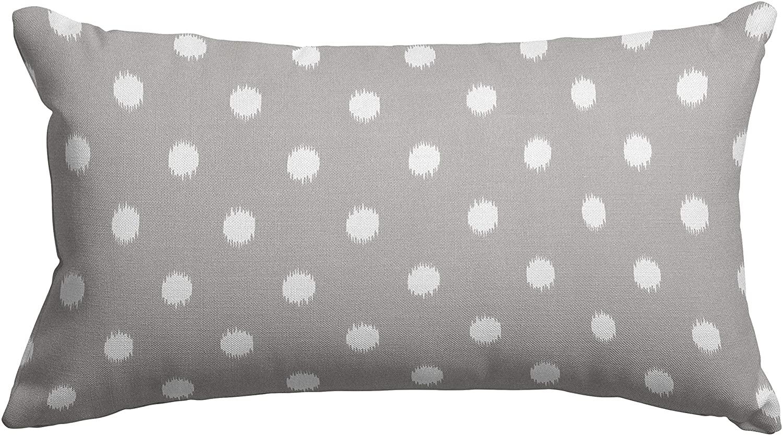 Majestic Home Goods Gray Ikat Dot Indoor / Outdoor Small Throw Pillow 20