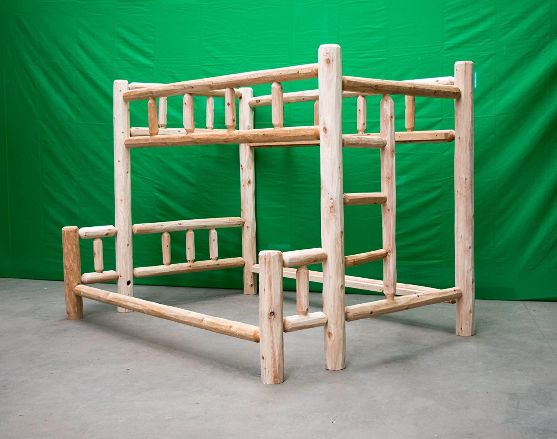 Midwest Log Furniture - Premium Log Bunkbed - Full Over Queen