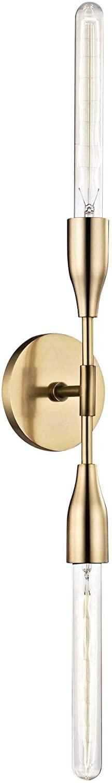 Mitzi H116102-AGB Tara - Two Light Wall Sconce, Aged Brass Finish
