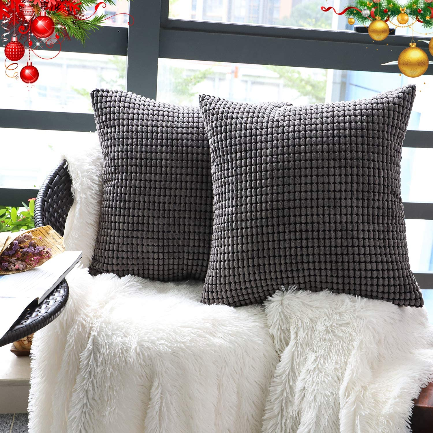 Set of 2,Decorative Throw Pillow Covers 20