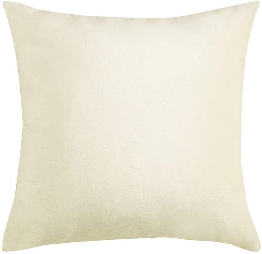 uxcell Velvet Throw Pillow Cover, Decorative Throw Cushion Cover Luxury Euro Square Pillowcase for Sofa Couch Bed Chair 18