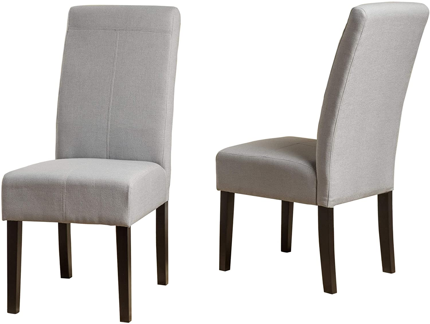 Christopher Knight Home Pertica Fabric Dining Chairs, 2-Pcs Set, Light Grey