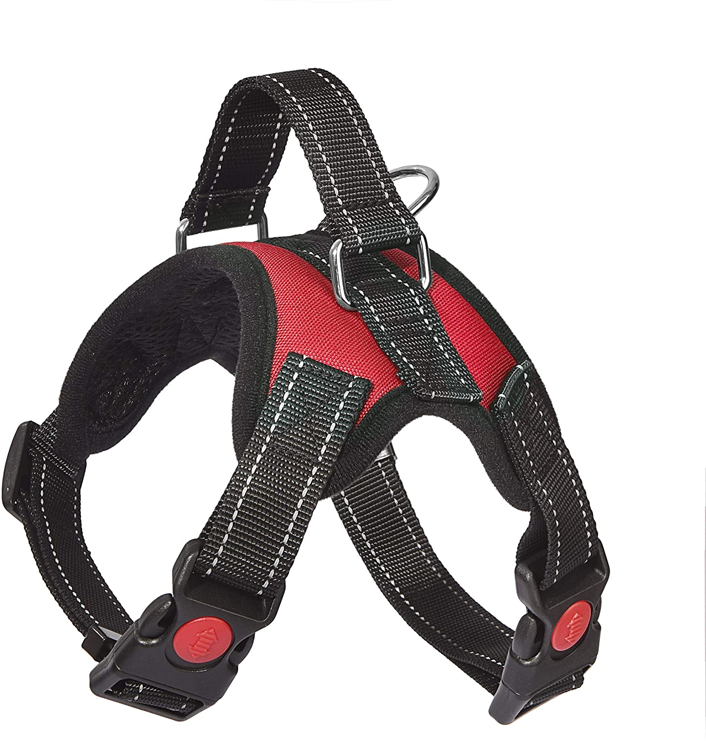 Dog Harness, Breathable Adjustable Dog Vest Pet Harness for Small Medium Large Dogs with Sturdy Leash