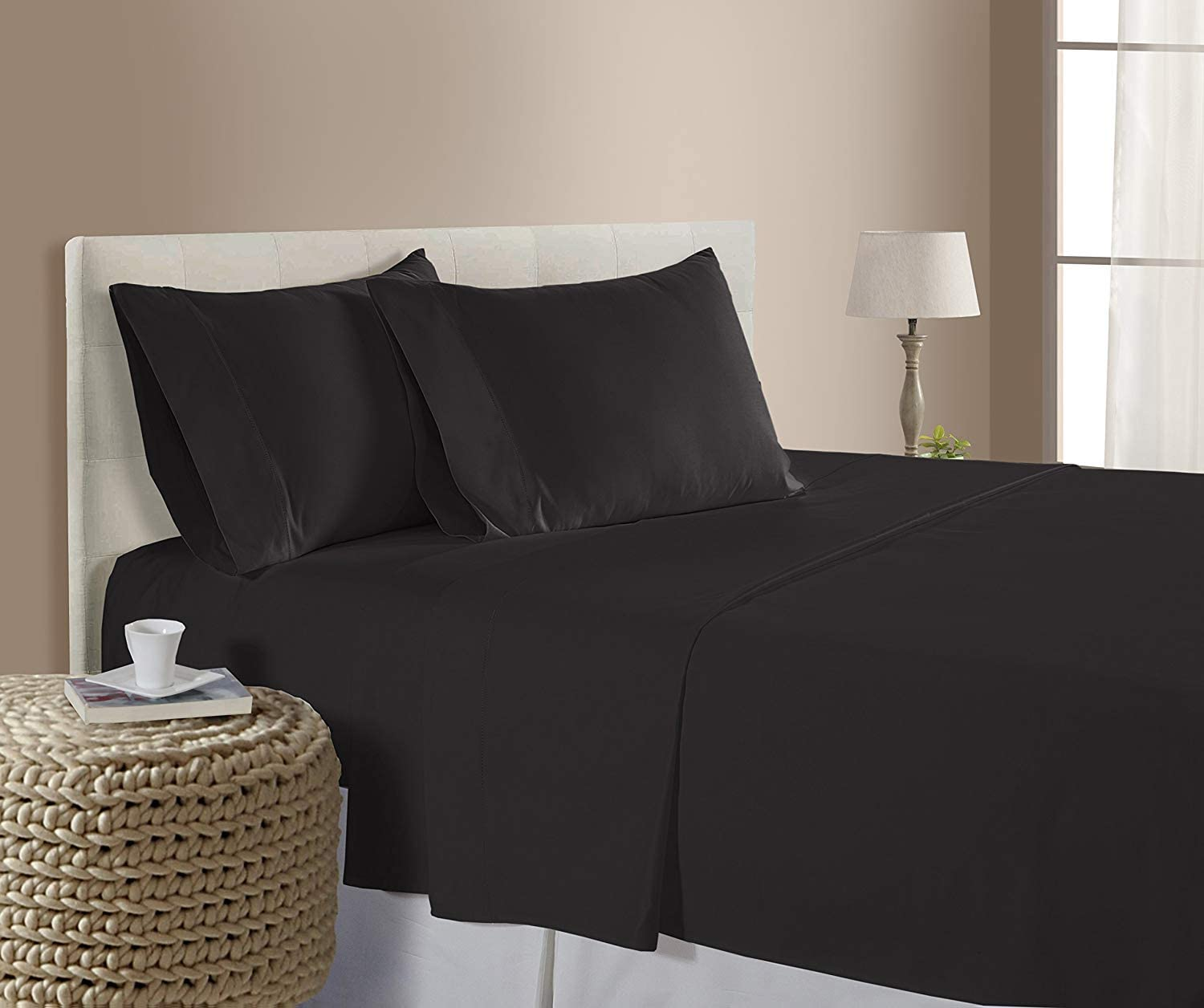 Twin XL Size Sheets Luxury Soft 100% Egyptian Cotton Sheet Set for Twin XL Size (39x80) Mattress Dark Grey Color 550 Thread Count Deep Pocket Fits 14-16 Inches (Pattern : Solid)