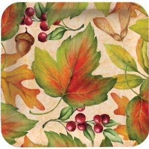 Rich Foliage 7 Inch Deep Dish Paper Plates 8 Pack Fall Autumn Thanksgiving
