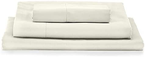MyPillow Bed Sheet Set 100% Certified Giza Egyptian Long Staple Cotton (Twin, Ivory)