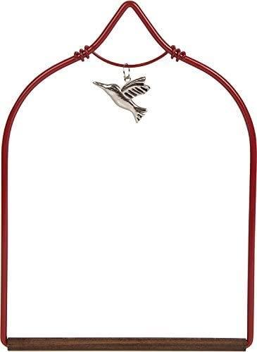 Pop's Charmed Hummingbird Swing, Red, with Dangling Hummingbird Charm