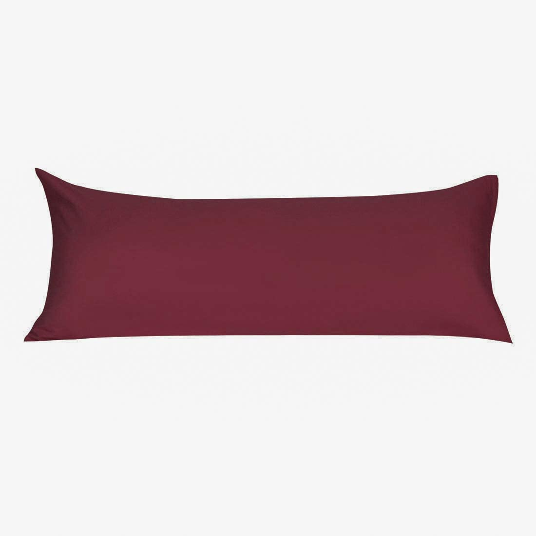 uxcell Soft Microfiber Body Pillow Cover with Zipper Closure, Long Pillow Cases for Body Pillows Wine Body (20