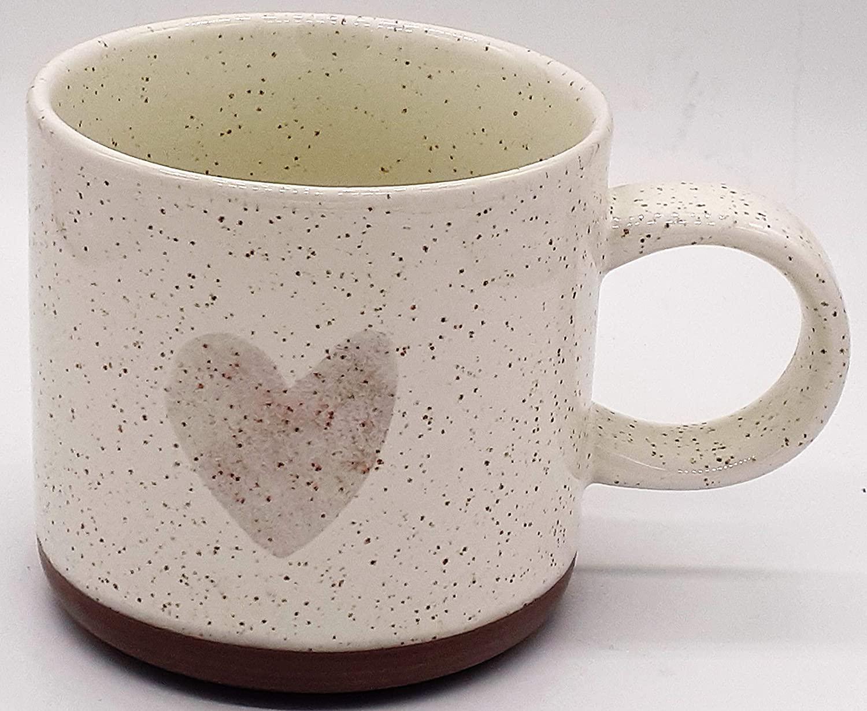 2017 Holiday Collection Ceramic Mug 12oz- Speckled Rose Gold Heart