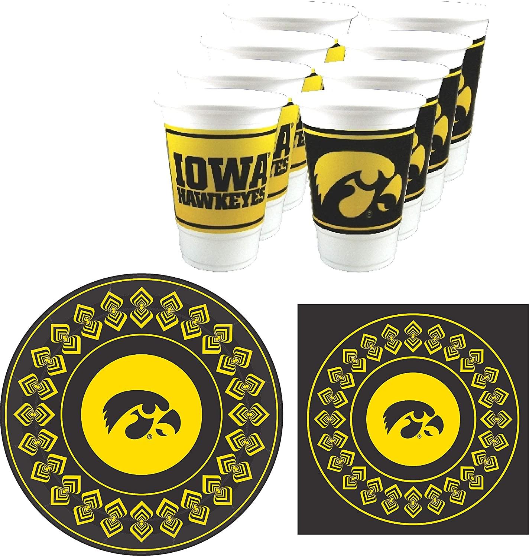Westrick Iowa Hawkeyes Party Supplies - Serves 16 (48 Pieces)