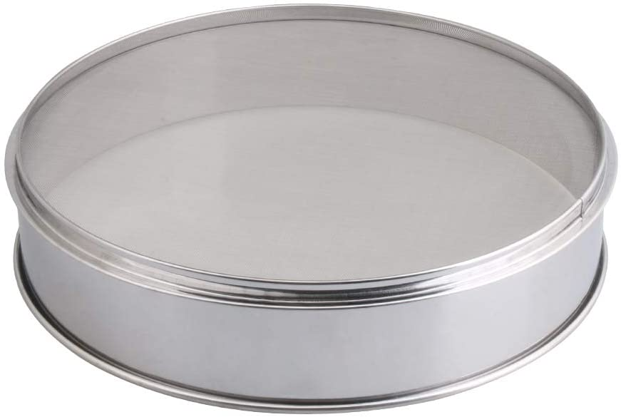 RDEXP Fine Mesh Flour Sieve Stainless Steel Round Sifter Dia 13.77