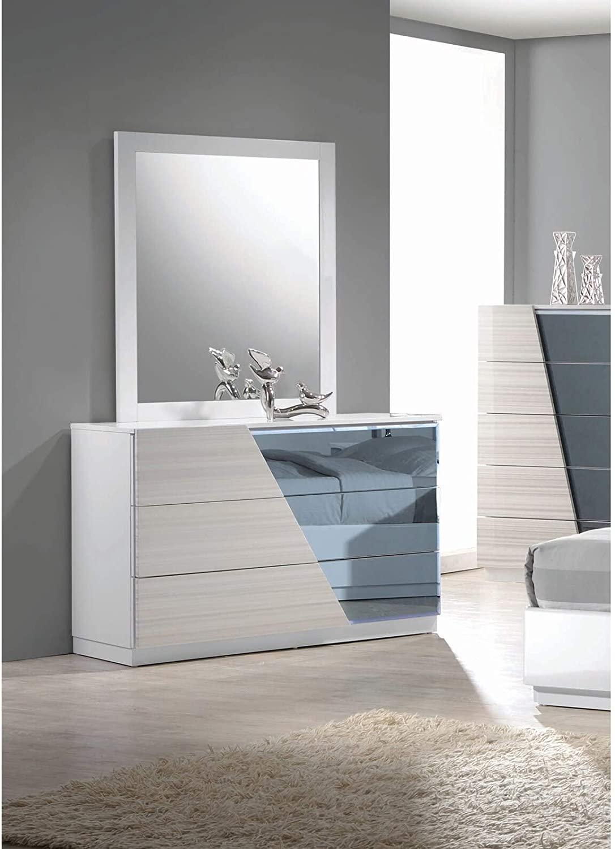 Best Master Furniture Zebra/Gray Dresser and Mirror