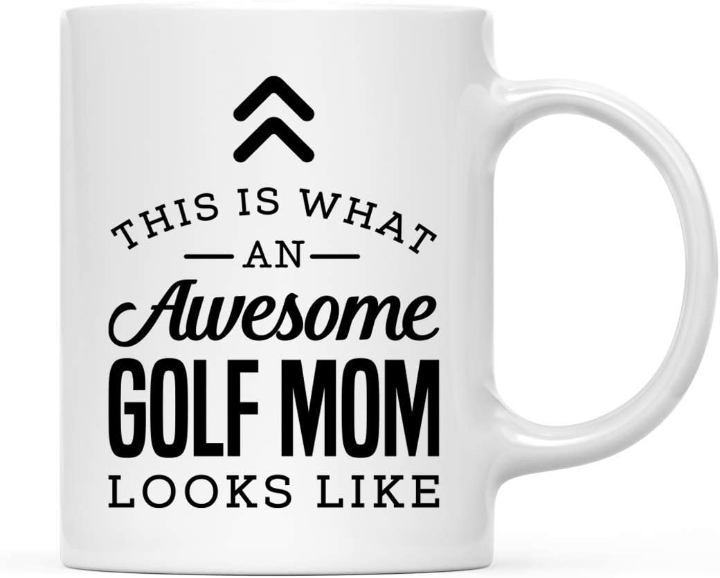 Andaz Press 11oz. Ceramic Coffee Tea Mug Thank You Gift, This is What an Awesome Golf Mom Looks Like, 1-Pack
