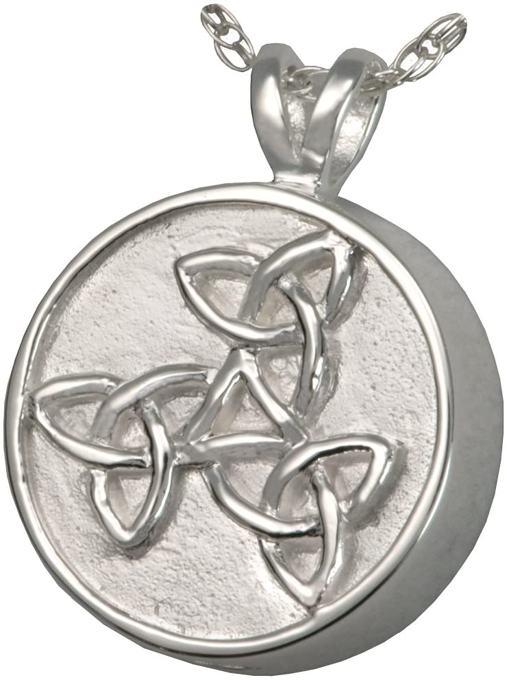 Cremation Memorial Jewelry: Sterling Silver Trinity Celtic