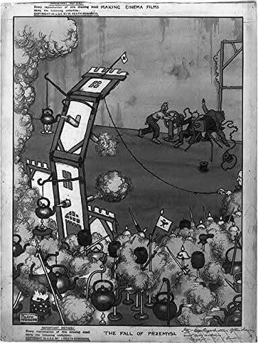 Photo: The fall of Przemysl, Battle Scene, Steaming Tea Kettles, Flimsy Castle, 1915 . Size: 8x10 (a