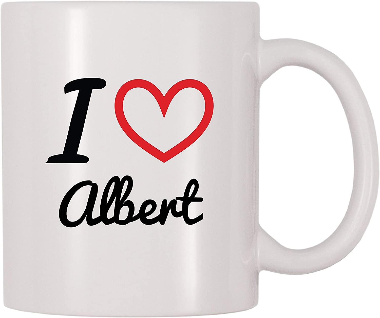 4 All Times I Love Albert Personalized Name Coffee Mug (11 oz)