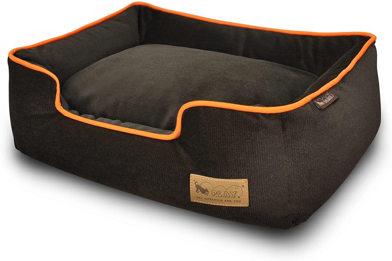 Pet Lifestyle and You Urban Plush Lounge Bed, Medium, Orange