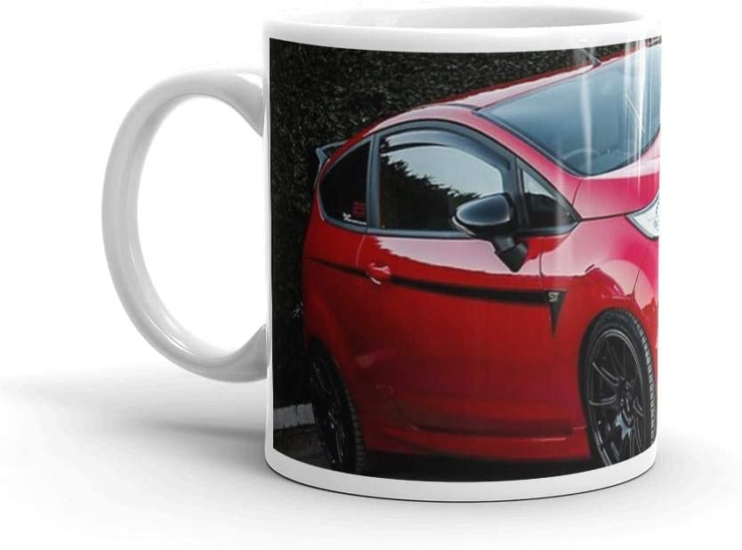 Fiesta ST Red. 11 Oz Ceramic Coffee Mug Also Makes A Great Tea Cup With Its Large, Easy to Grip C-handle. 11 Oz Fine Ceramic Mug With Flawless Glaze Finish