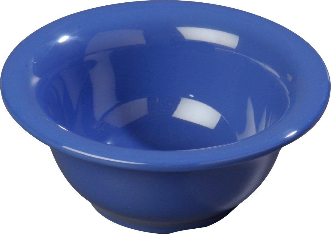Carlisle 4303814 Durus Rimmed Melamine Nappie Bowl, 10 Oz., Ocean Blue (Pack of 24)