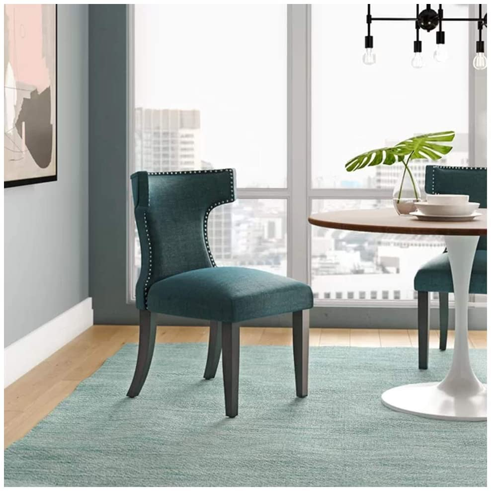 PG Products Curve Upholstered Dining Chair -(1Pc) (Azure)