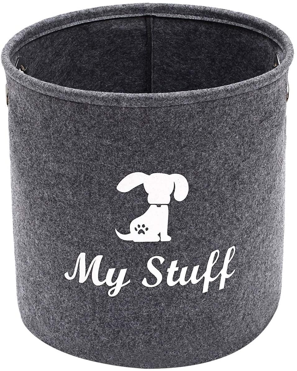 Dog Toys Storage Basket, Felt Toy Chest Baskets Storage Bins Organizer - Perfect for Organizing Toy Storage, Dog Apparel, Dog Accessories, Dog Toys, Dog Clothing, Gift Baskets