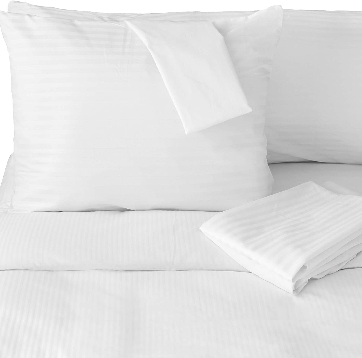FeelAtHome 100% Cotton Waterproof Zip Pillow Protector Covers (Pack of 4, Standard) - Anti Bed Bug & Dustmite Pillowcase Cover - Hypoallergenic Zippered Pillow Encasement Pillow Case