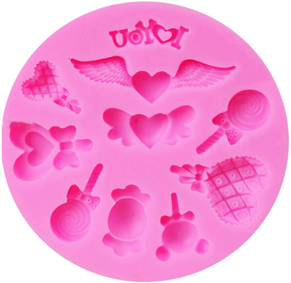 minansostey Silicone Chocolate Mold Lollipop/Wing Shape Candy Molds Fondant Cake Decoration Tool Mould