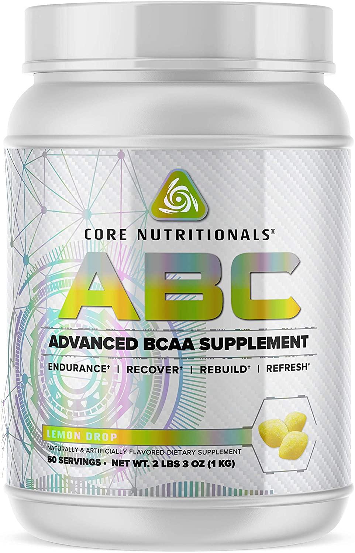 Core Nutritionals ABC Platinum Advanced BCAA Supplement 50 Servings (Lemon Drop)