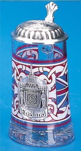 England Glass German Beer Stein