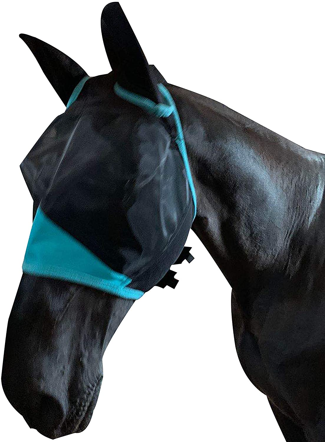 TGW RIDING Horse Fly Mask with Ears Fine Mesh