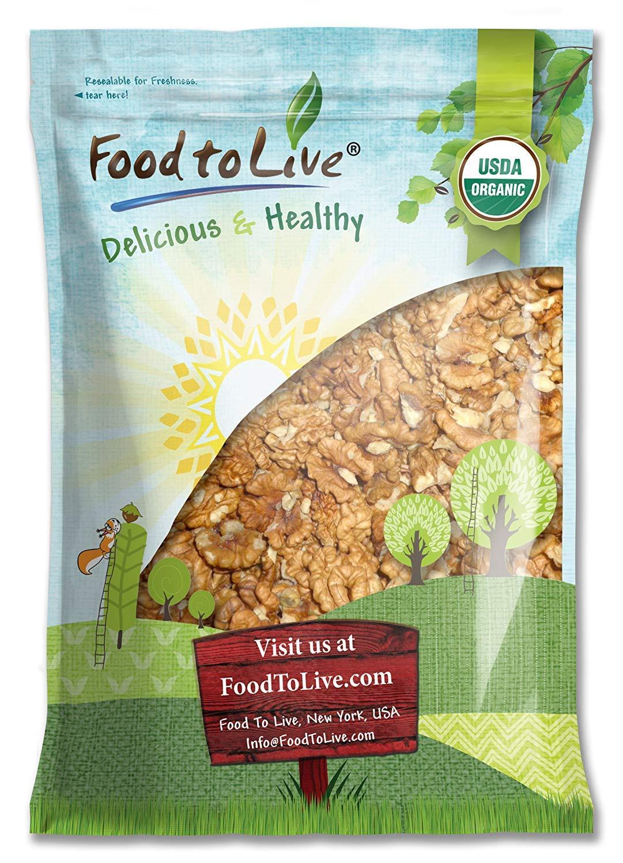 California Organic Walnuts, 12 Pounds - Non-GMO, Kosher, Raw, No Shell, Kosher, Bulk
