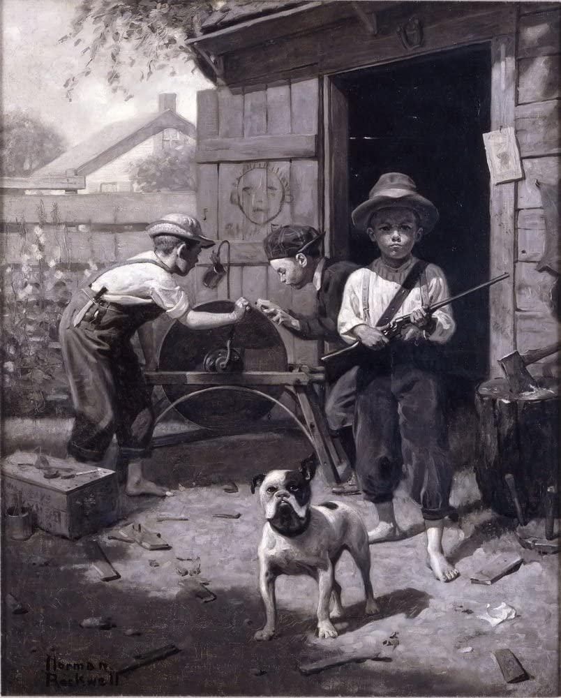 Berkin Arts Norman Rockwell Giclee Canvas Print Paintings Poster Reproduction (Slim Finnegan)