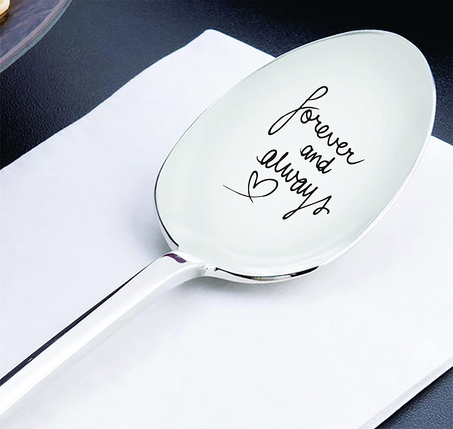 Best friend gifts - Anniversary gifts - Wedding gifts - Gift for mom - Forever and always spoon - Long distance relationship gifts - Moving away gifts - Mothers day gifts - Engraved spoon – 7 inches