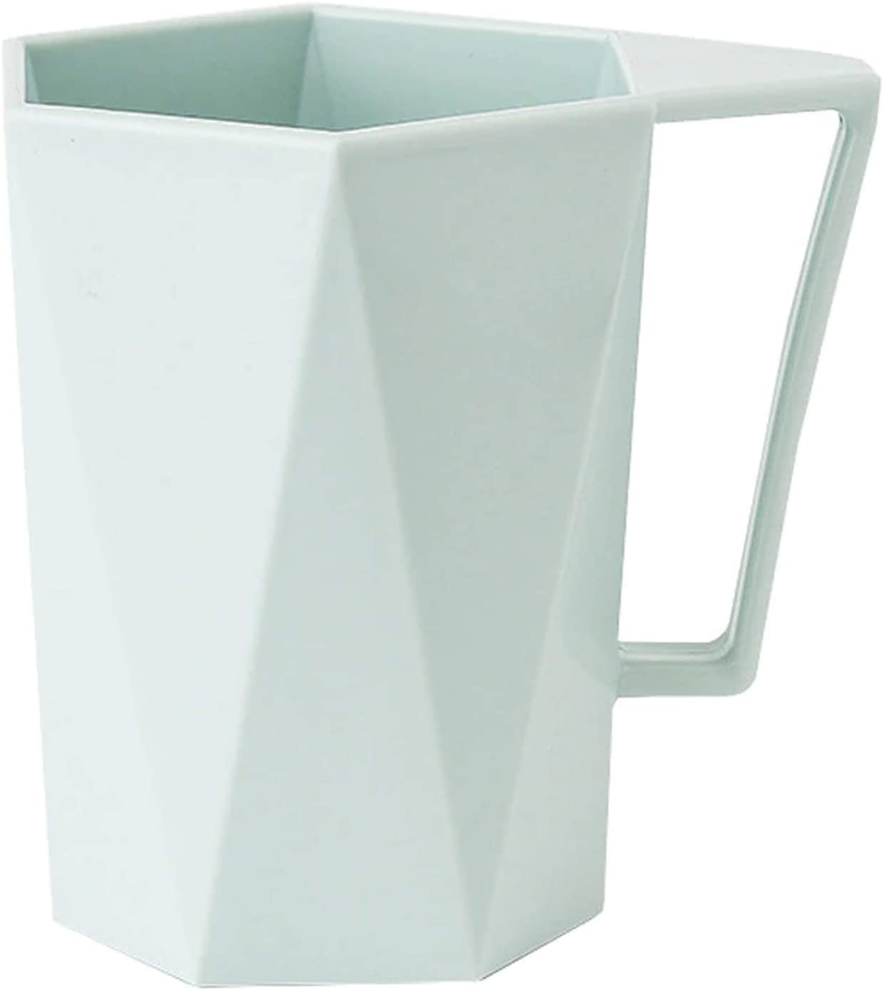 Mailzon Coffe Cups, Water Glass, and Mug - A New 1PC Novelty Cup Personality Glass Milk, Juice, Tea, and Lemon | Reusable Plastic Cup, Ideal Use for Any Occasions and Party (Mint Green, 301-400ml)