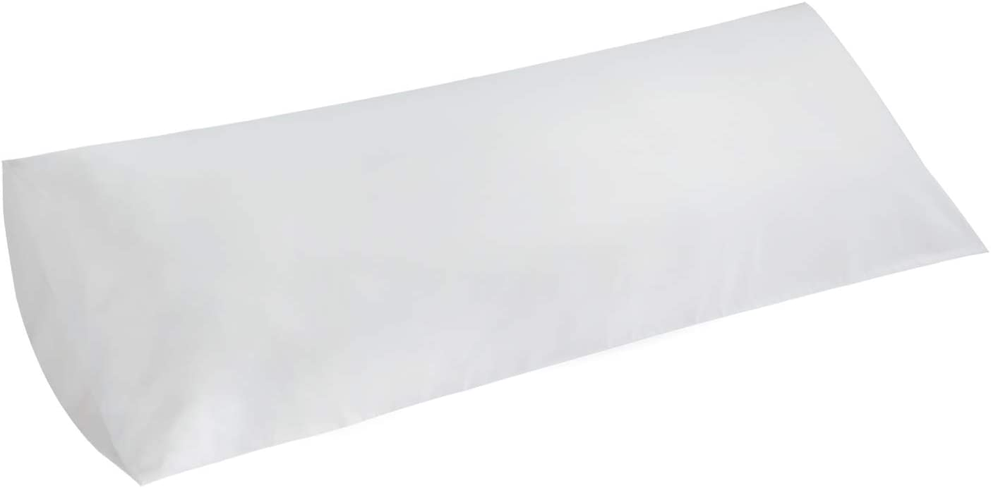 Bedsure Brushed Microfiber Body Pillow Cover - Super Soft and Cozy, Envelope Closure - Wrinkle, Fade, Stain Resistant - Body, White (20×54 Inch)