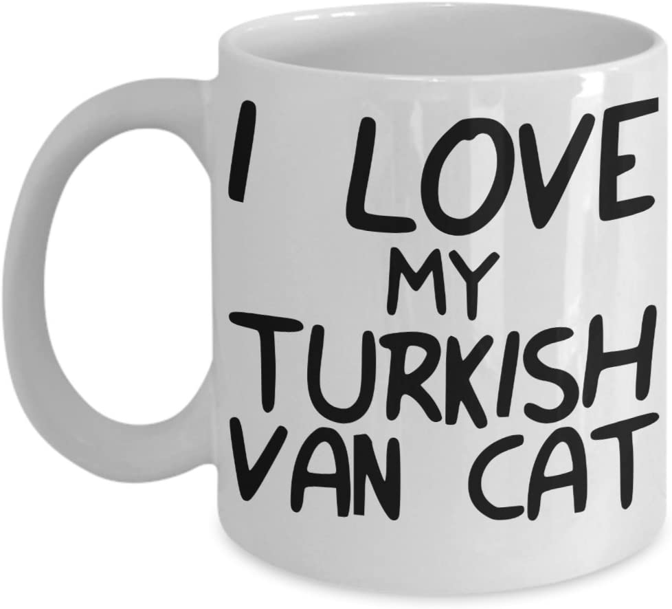 I Love My Turkish Van Cat Mug - White 11oz Ceramic Tea Coffee Cup - Perfect For Travel And Gifts