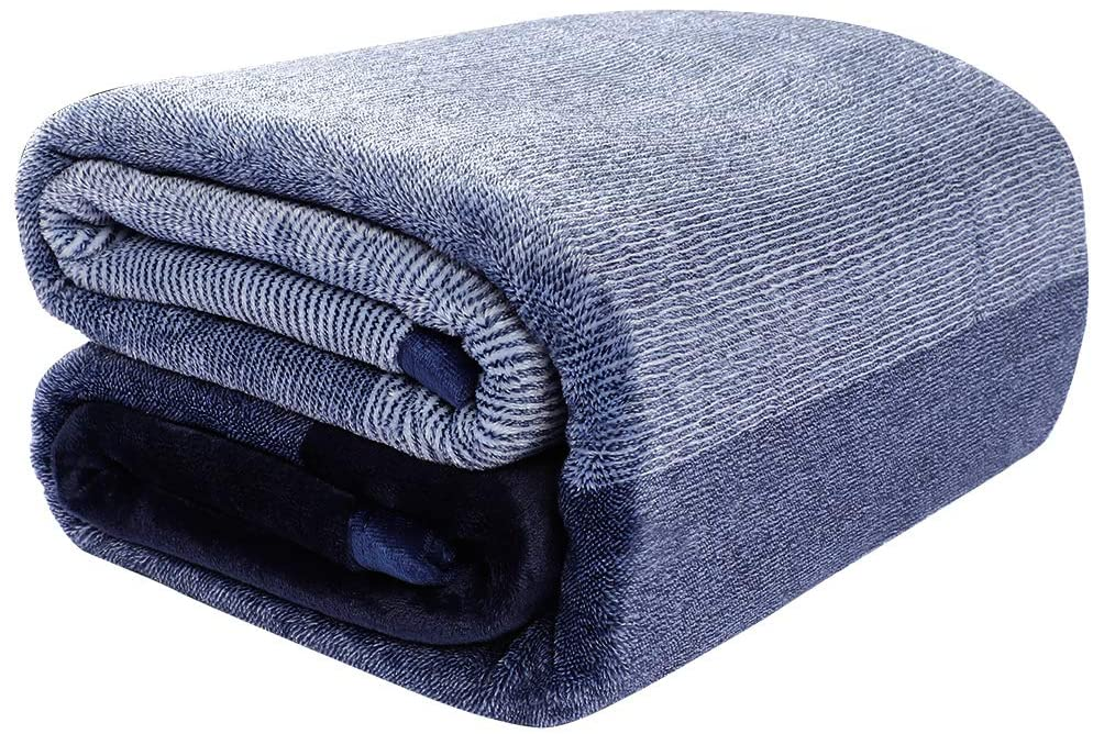 PICCOCASA Flannel Fleece Blanket Queen Size Soft Warm Fuzzy Microfiber Plush Blanket Lightweight Gradient Ombre Blankets for Bed or Couch,78