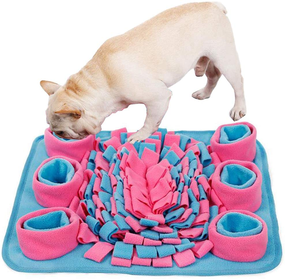 ulovemore qh Snuffle Mat for Dogs, Interactive Dog Toys Encourages Natural Foraging Skills Dog Puzzle Toys, Snuffle Mat for Small or Medium Dogs