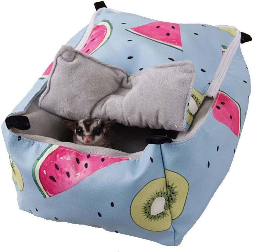 isilky Winter Warm Guinea Pig Rabbit Bed Sugar Glider Squirrel Hamster Hanging Cave Bed Snuggle Sack for Cage Accessories