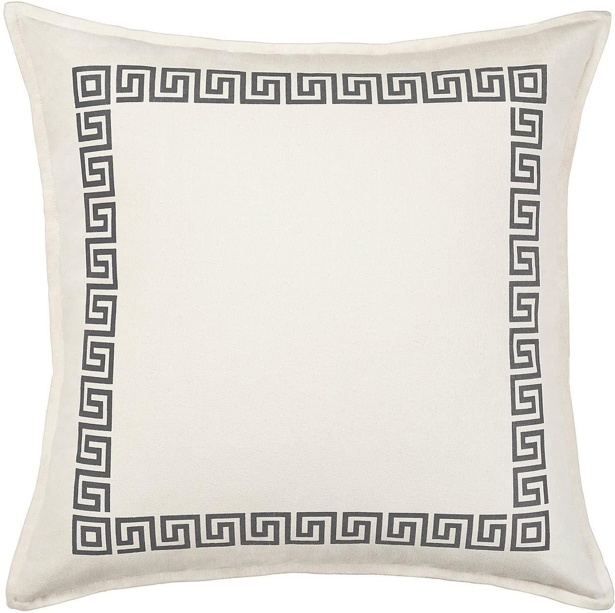 Greendale Home Fashions Greek Key Decorative Pillow Gray