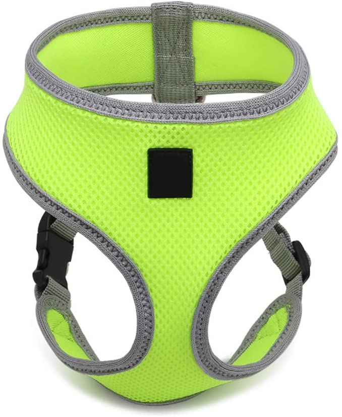 UEETEK Dog Harness Pet Breast Harness Safety Strap Vest Leash for Dogs - Size M (Fluorescent Green)